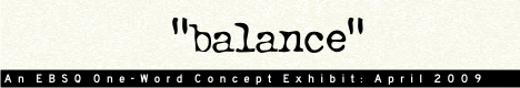 Banner for One Word Concept: Balance art show