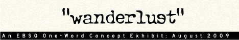 Banner for One Word Concept: Wanderlust art show
