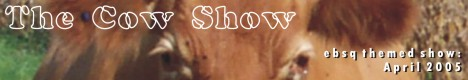 Banner for The Cow Show art show