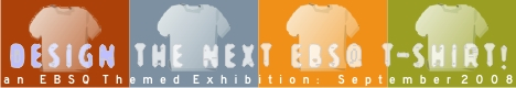 Banner for Design the Next EBSQ T-shirt! art show