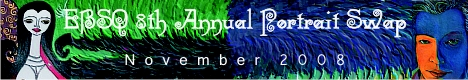 Banner for 8th Annual Portrait Swap art show
