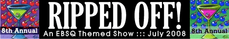Banner for 8th Annual Ripped Off Show art show