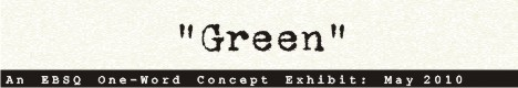Banner for One-Word Concept: Green art show