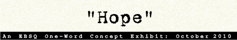 Banner for One-Word Concept: Hope art show