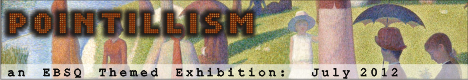 Banner for Pointilism art show