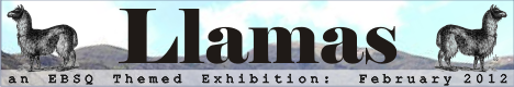 Banner for Llamas art show