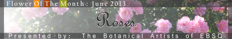 Banner for Flower of the Month: Roses art show