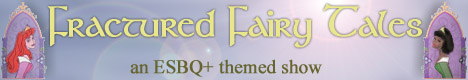Banner for Fractured Fairy Tales art show