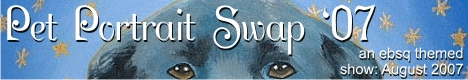Banner for EBSQ 6th Annual Pet Portrait Swap art show