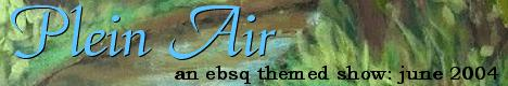 Banner for Plein Air art show