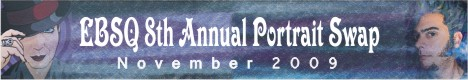 Banner for 9th Annual Portrait Swap art show