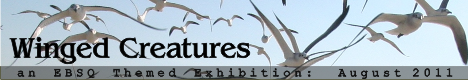 Banner for Winged Creatures art show