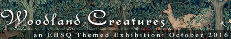 Banner for Woodland Creatures art show