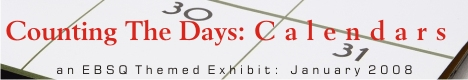 Banner for Counting The Days: Calendars art show