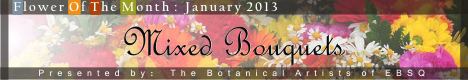 Banner for Flower of the Month: Mixed Bouquets art show