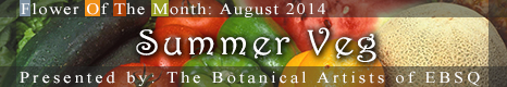 Banner for Flower of the Month: Summer Veg art show