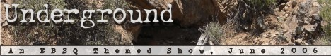 Banner for Underground art show